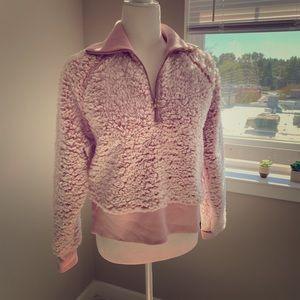 PINK VS XS fluffy pink fleece